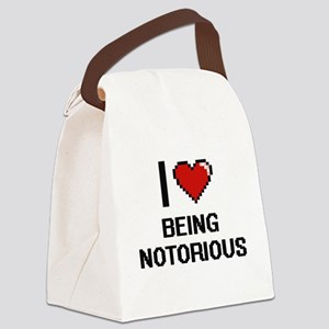 I Love Being Notorious Digitial D Canvas Lunch Bag