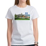 Old Quebec Pano with one Flag Women's T-Shirt