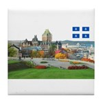 Old Quebec Pano with one Flag Tile Coaster