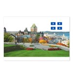 Old Quebec Pano with one Flag Postcards (Package o