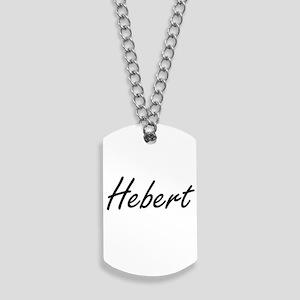 Hebert surname artistic design Dog Tags