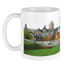Old Quebec Pano with one Flag Mug