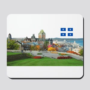 Old Quebec Pano with one Flag Mousepad