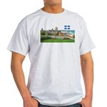 Old Quebec Pano with one Flag Light T-Shirt