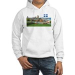 Old Quebec Pano with one Flag Hooded Sweatshirt
