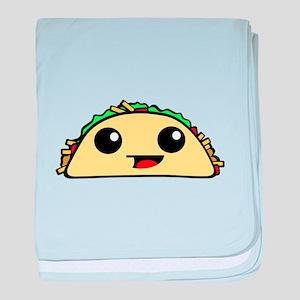 Cute Kawaii Taco baby blanket