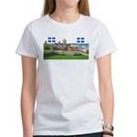 Old Quebec Pano with two Flag Women's T-Shirt