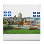 Old Quebec Pano with two Flag Tile Coaster