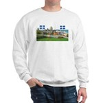 Old Quebec Pano with two Flag Sweatshirt