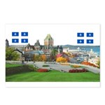 Old Quebec Pano with two Flag Postcards (Package o