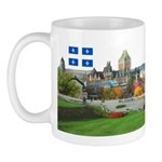 Old Quebec Pano with two Flag Mug
