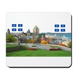 Old Quebec Pano with two Flag Mousepad