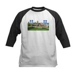 Old Quebec Pano with two Flag Kids Baseball Jersey