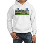 Old Quebec Pano with two Flag Hooded Sweatshirt