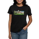 Old Quebec Pano with Signatur Women's Dark T-Shirt