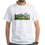 Old Quebec Pano with Signatur White T-Shirt