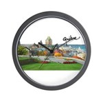 Old Quebec Pano with Signatur Wall Clock