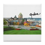 Old Quebec Pano with Signatur Tile Coaster