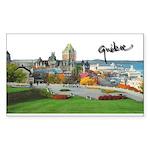 Old Quebec Pano with Signatur Sticker (Rectangular