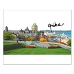 Old Quebec Pano with Signatur Small Poster