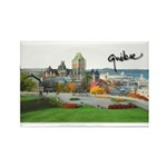 Old Quebec Pano with Signatur Rectangle Magnet (10