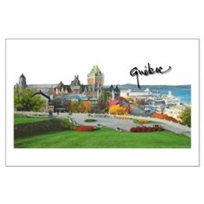 Old Quebec Pano with Signatur Large Poster
