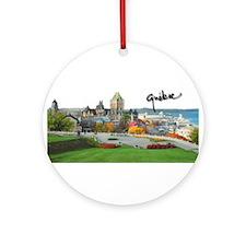 Old Quebec Pano with Signatur Ornament (Round)