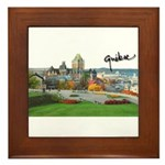 Old Quebec Pano with Signatur Framed Tile