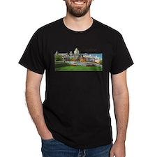 Old Quebec Pano with Signatur Dark T-Shirt