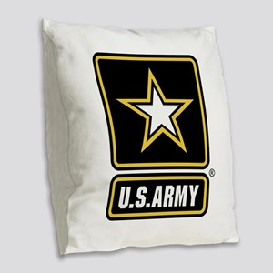 U.S. Army Logo Burlap Throw Pillow