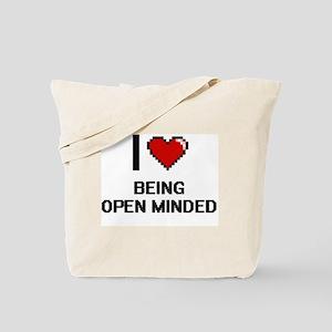 I Love Being Open-Minded Digitial Design Tote Bag