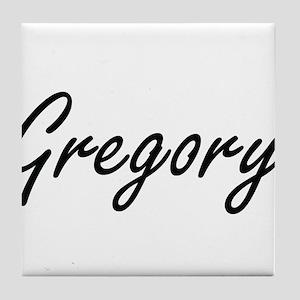 Gregory surname artistic design Tile Coaster