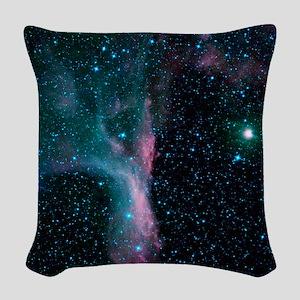 Scorpion's Claw Nebula Woven Throw Pillow