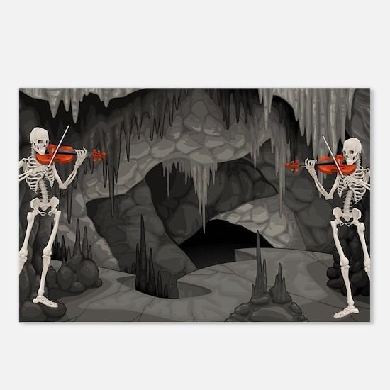 skeleton violin Postcards (Package of 8)