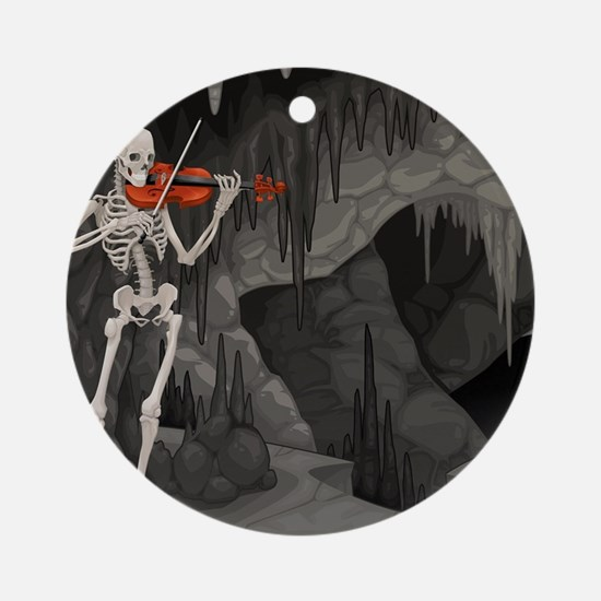 skeleton violin Ornament (Round)