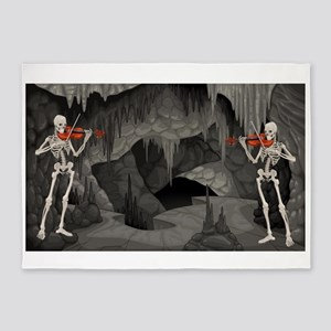 skeleton violin 5'x7'Area Rug