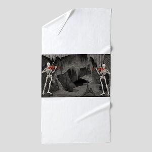 skeleton violin Beach Towel