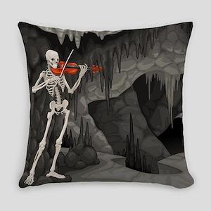 skeleton violin Everyday Pillow