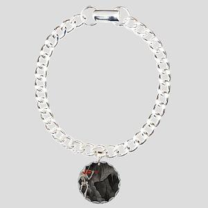 skeleton violin Charm Bracelet, One Charm