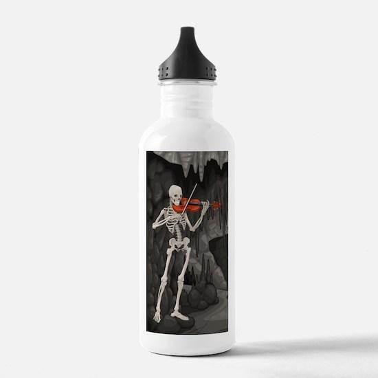 skeleton violin Water Bottle