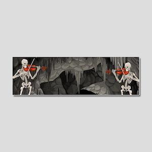 skeleton violin Car Magnet 10 x 3