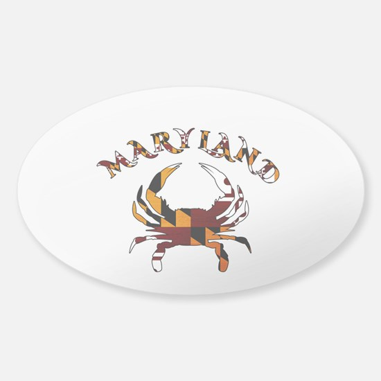 Maryland Flag Crab Decal