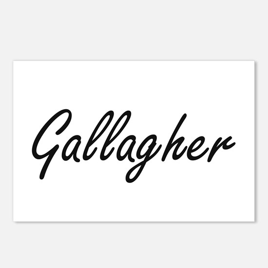 Gallagher surname artisti Postcards (Package of 8)