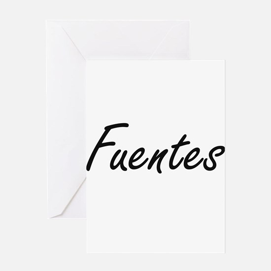 Fuentes surname artistic design Greeting Cards
