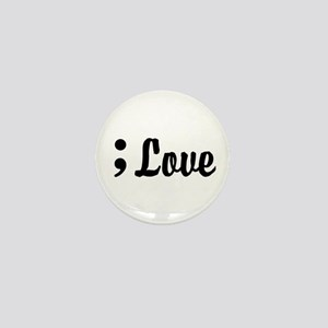 Love Semicolon Mini Button