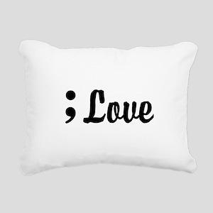Love Semicolon Rectangular Canvas Pillow