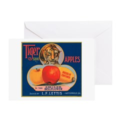 Tiger Fruit Crate Label Greeting Card