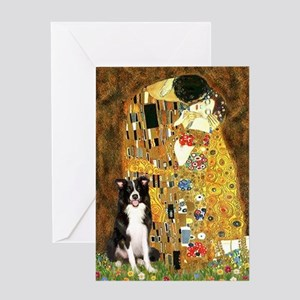 The Kiss & Border Collie Greeting Card
