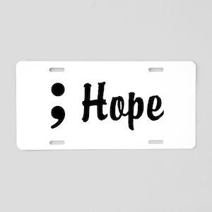 Hope Semicolon Aluminum License Plate