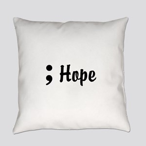 Hope Semicolon Everyday Pillow